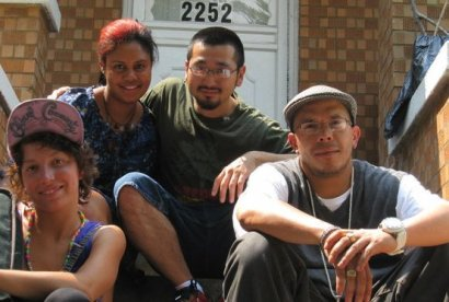 Jonathan Lewis (front right) with associates | Image from Positive Peace Warrior Network